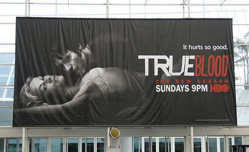 True Blood banner at San Diego Comic-con 2009