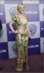 Actress Paquin poses at the Warner Bros./InStyle after party after the 67th annual Golden Globe Awards in Beverly Hills