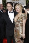 "British actor Steven Moyer and actress Anna Paquin from the TV drama ""True Blood"" arrive at the 67th annual Golden Globe Awards in Beverly Hills"